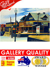 NEW Edward Hopper, Small Town Station, 1920 Ashcan Giclee Art Print or Canvas