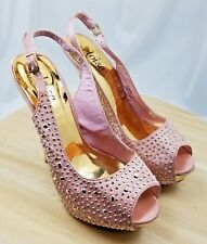 Eloise Pink Shoedazzle cares women heels US:7.5/UK:5.5