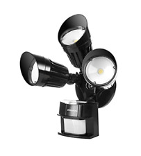 Hyperikon Led Security Light, Black, 30W 125W Equivalent Outdoor Motion Sensor