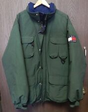 Tommy Hilfiger Snow Jacket With Hood Size Large Rare !! Fast Free Shipping!!