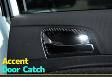 3D Black Carbon Door Catch Decals Stickers for Hyundai 2011+ Accent / Solaris