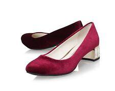 Anne Klein Haedyn Jeweled Block Heel PUMPS 786 Wine 8 US