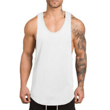 cdd7d8e0 Men's Fitted Muscle Cut Workout Tank Tops Gym Bodybuilding Fitness T-Shirts