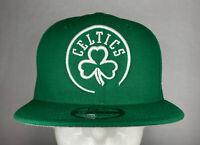 New Era NBA Boston Celtics Logo Trace Green 9FIFTY Snapback Hat, Cap, New