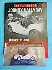 Voiture Johnny Hallyday Triumph TR3  1961  n°1 Neuf en boite 1/43
