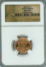 2010-D CENT LINCOLN NGC MS66 RED BUSINESS STRIKE