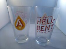 Austin Beer Works Beer Pint Glasses, Heavy, New Hell-bent on Excellence Craft TX