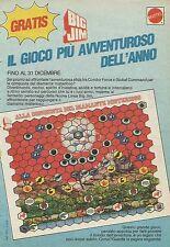 X1016 BIG JIM - Il gioco più avventuroso - Mattel - Pubblicità 1985 - Advertis.