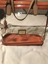 Guess Womens Orange Hula Girl Tote Bag  Over The Shoulder