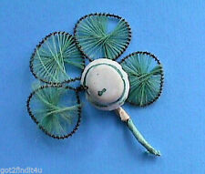 St Patrick Vintage Hat Pick 4 Leaf Clover 1940s Spun Ceramic Irish