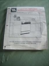 Maytag Built-in Dishwasher Installation Instructions Manual