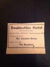 72-7 Ephemera 1971 Advert Newquay Doublestiles Hotel The Coconut Grove Breakers