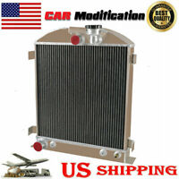 Aluminum 3 Row Radiator for 1932 Ford Chopped Hot Rod w/Chevy 350 V8 Engine US