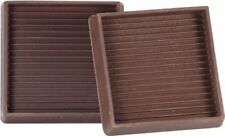 Shepherd Hardware 9078 3-Inch Square Rubber Furniture Cups
