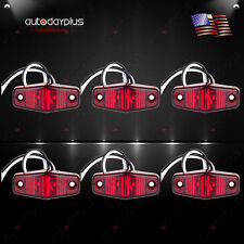 6pcs LED Light 2Diode Red Long Trailer Tow Truck Pickup Mini Side Fender Marker
