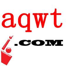 aqwt.com - Premium 4L 4 Letter LLLL .com Domain Name, reg. since 2007