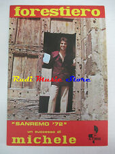 MICHELE Forestiero LAURA CARLINI 1972 RARO SPARTITO SINGOLO italy cd lp dvd mc