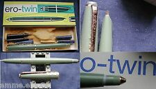 "PENNA STILOGRAFICA ""ERO / TWIN"" MADE IN GERMANY+ SCATOLA E 5 RICARICHE - VERDE"
