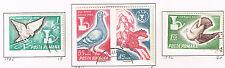 Romania Fauna Birds Postal Pigeons set 1965