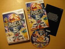 Wii Nintendo Hot Wheels Battle Force Five 5 wNEU