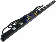 4' 12 Outlet Metal Power Strip, Surge Protected 41215V