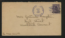 Hondurs revalued stamp on cover to Us 1927 Ms1222