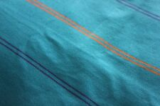 Vintage Estate Italy Aqua Blue Cotton Jersey Fabric with Stripes Sports  R016
