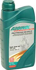ADDINOL Pole Position SAE 20W-50 synthetisch Motoröl Motorrad JASO MA2 API SN 1L