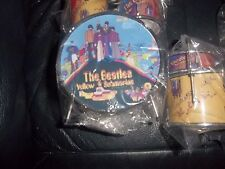 THE BEATLES YELLOW SUBMARINE MINIATURE DRUM SET DRUMS CYMBALS STOOL DRUMSTICKS