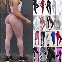 Women Pants High Waist Yoga Fitness Leggings Sports Running Gym Scrunch Trousers