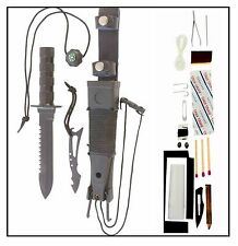 12pc Military Combat Tactical Survival Knife, 420 Non-Glare Stainless Steel