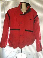 Nike Vintage Zip  Red Windbreaker Track Jacket L