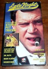 Late Night with David Letterman featuring STUPID PET TRICKS  VHS TAPE Dr Ruth +