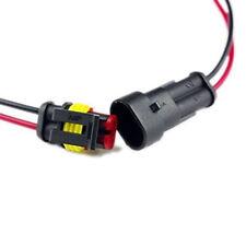 2 Juegos de 2 Pin Coche Conector Eléctrico Estanco Impermeable Con Cable de 5cm