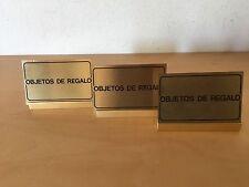 """Used - 3 CARD SUPPORTA 3 SUPPORTI CARTOLINE """"Oggetti in Regalo"""" - Usato"""