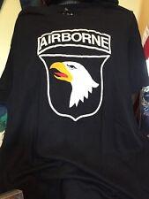 Vintage AIRBORNE US Army Sunshine Brand Black Color 50/50% T Shirt. Size XL
