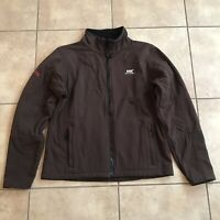 Helly Hansen Womens Soft Shell Zip UP Brown Fleece Jacket Size Large