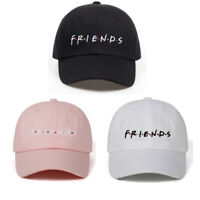Friends Embroidered Baseball Cap Adjustable Dad Hat Letters Cap Strapback Unisex