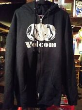 VOLCOM Men's ZIp up Hooded Sweatshirt size XXL BLACK