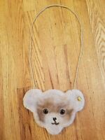Steiff Fuzzy Teddy Bear Purse Wallet Bag Made in Austria