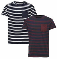 JACK & JONES Core T-shirts New Men's Table Crew Neck Logo Stripe Cotton Tee
