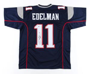 New England Julian Edelman Signed Blue Jersey Beckett BAS COA
