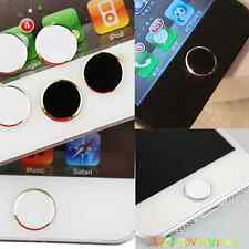 Round Metal Home Button Sticker For Apple iPhone5/4S/4 iPod Touch iPad Brand new