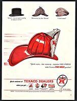 1946 TEXACO Fire-Chief Gasoline AD Firefighter Fireman's Helmet