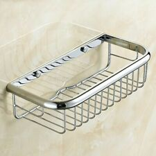 Polished Chrome Shower Basket Bathroom Soap Shampoo Storage Holder Wall Mounted
