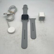 Apple Watch Series 3 (GPS) Silver Sport 38mm w/ Gray Sport Good Condition