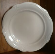 Southern Living Gallery Collection All-White Fleur-de-Lis Salad Plates Lot of 2