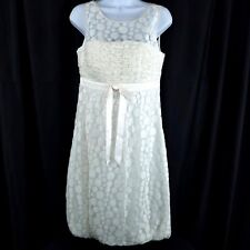 Sue Wong Womens Dress Size 6 White Lace Cotton Blend Formal Party Cocktail