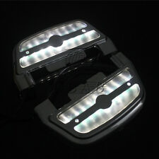 Chrome LED Light Passenger Footboard Cover ABS For Harley Softail Touring 1984-