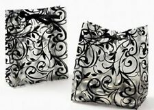 48 Damask Frost Black White WEDDING FAVOR Candy BAGS Reception Anniversary Party